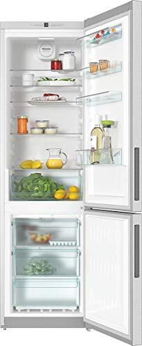 Miele KFN 29162 D EDT/CS, Frigo-congelatore da Libero Posizionamento, No Frost, A++, 42 dB, 2,0 mt Altezza, 338 lt, Acciaio Inox