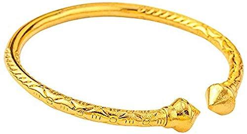 Yiffshunl Armband Halskette Gold Nagel Armbänder & Armreifen Gold Farbe Männliche Öffnung Prägung Gold Armbänder & Armreifen für Männer Herren Damen Armband Armreif Schwester Geschenk