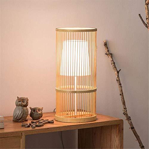 SYyshyin Lámpara De Mesa Creativa Decorativa Retro Lámpara De Mesa De Dormitorio Lámpara De Mesita De Salón De Estilo Japonés Lámpara De Bambú Minimalista Moderna 18 * 40