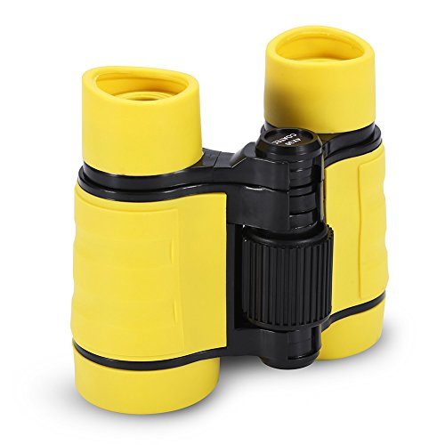 Alomejor 4x30 Kinder Fernglas Mini Teleskop Spielzeug Geschenk Kinderfernglas zur Kinder Vogelbeobachtung Wandern Safari Sightseeing Sportveranstaltung(Gelb)