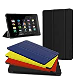 Fire HD 10 Case - Zerhunt Ultra Light Slim Fit Protective Cover with Auto Wake/Sleep for Fire HD 10 Tablet 10.1 Inch (7th Generation and 9th Generation, 2017 and 2019 Release) Black