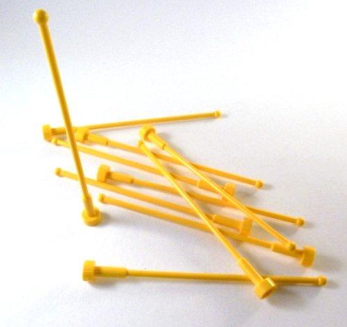 LEGO 10 Stück Antenne 8H in gelb.