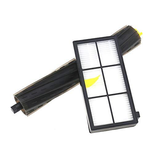 14pcs Kit de Filtre Brosses Latérales et Filtres Accessoire Compatible pour Roomba 800 860 865 866 870 871 875 876 880 886 900 960 966 980 Série