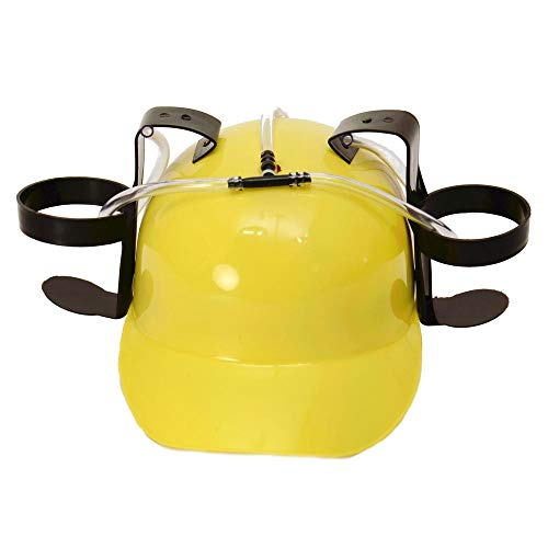 trendaffe Party Trinkhelm in gelb - Saufhelm Helm mit Getränkehalter Bierhelm
