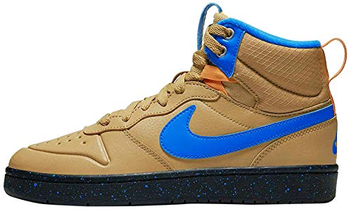 Nike Herren Court Borough MID 2 Boot (GS) Hohe Sneaker, Mehrfarbig (Club Gold/Blue Hero-Kumquat-Black 701), 36 EU