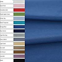 COTTONVILL 40count Cotton Solid Fabric (3yard, 08-Blue Denim 8056)