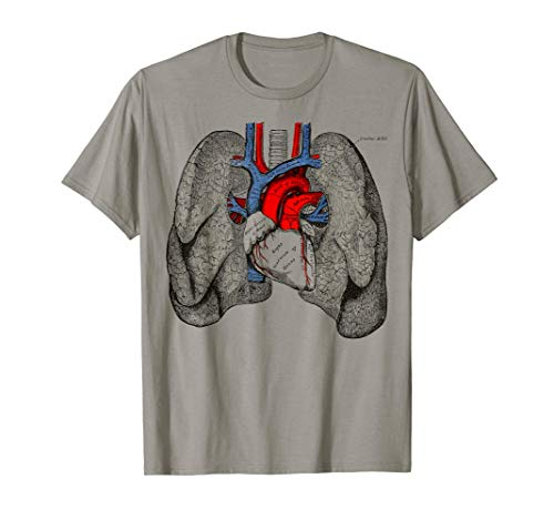 Corazón humano pulmones anatomía médica pulmones Camiseta