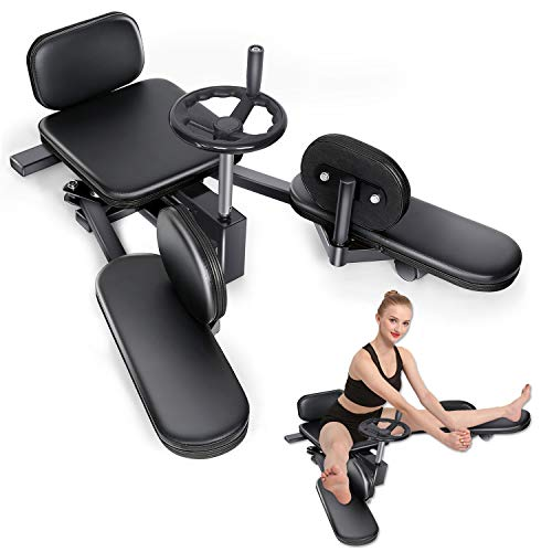 RollingBronze Leg Stretcher Split Extension Machine Stretch Training Heavy Duty Calf Inner Thigh Stretching Trainer Home Yoga Gym Gear Fitness Exercise Equipment