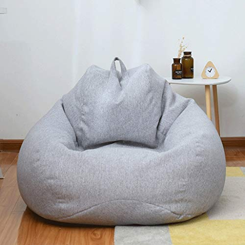 WGYDREAM Sitzsack Kindersitzsack Sofa faul Lounger High Back Großer Sitzsack Lagerung Stuhl mit Inner Liner 90 * 110cm Bean Bag (Color : Gray)