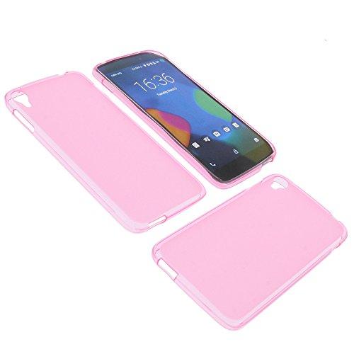 foto-kontor Tasche für Alcatel One Touch Idol 3 5.5 Gummi TPU Schutz Hülle Handytasche pink