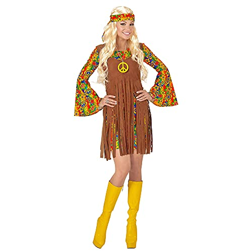 WIDMANN Disfraz de Hippie para Mujer, Adulto