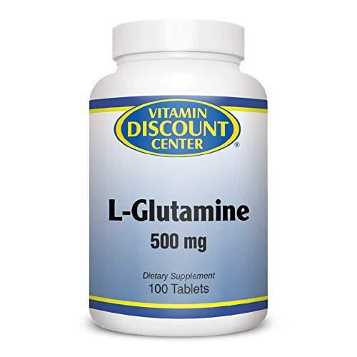 Vitamin Discount Center L-Glutamine 500mg, 100 Tablets