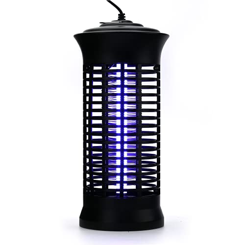 Bug Zapper,Electric Mosquito Zappers/Killer - Insect Fly Trap, Powerful Insect Killer,Mosquito lamp, Electronic UV Lamp for for Indoor, Child,Electronic Light Bulb Lamp for Backyard, Patio (Black)
