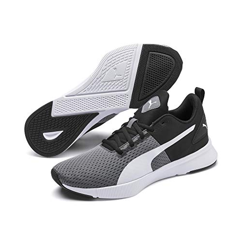PUMA unisex-adult Flyer Runner,CASTLEROCK-Puma Black-Puma White,10 M US