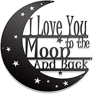 I Love You to the Moon and Back Metal Wall Art – Steel Roots Decor -Wall Decor..