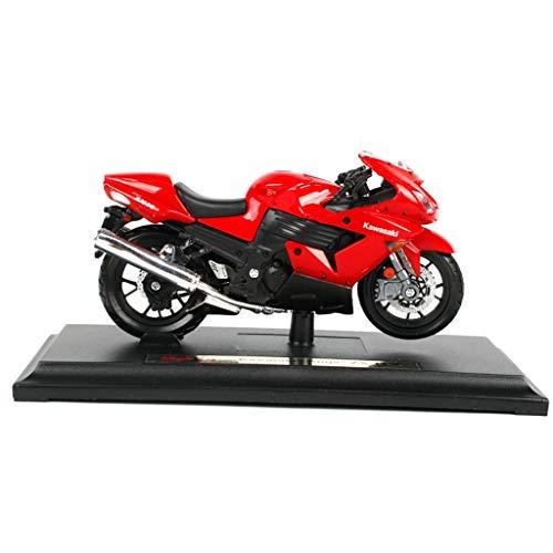 QRFDIAN 1 à 18 Kawasaki variété de modèle de Voiture de Moto en Alliage simulé Ornements de Moto (Couleur : Red)