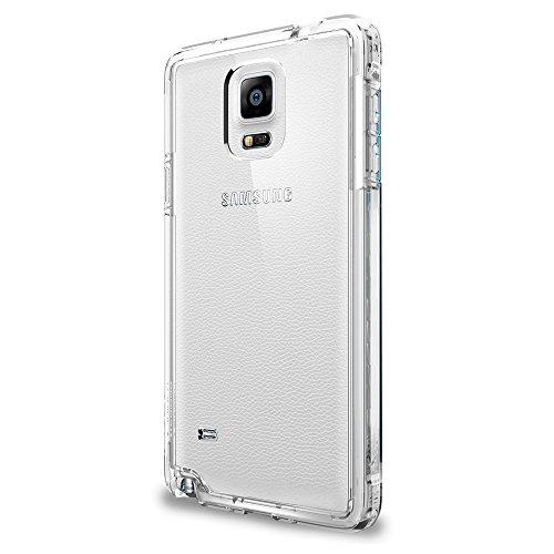 Spigen Ultra Hybrid Galaxy Note 4 Case with Air Cushion Technology and Hybrid Drop Protection for Samsung Galaxy Note 4 2014 - Crystal Clear