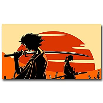 Samurai_Champloo Japanese Anime Poster - No Frame  24 x 16 Horizontal