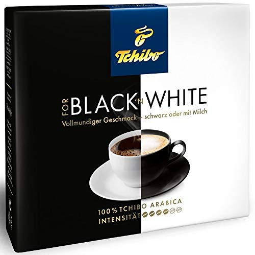 Tchibo - Black White gemahlener Kaffee 10 x 250 gramm FOR BLACK ´N WHITE