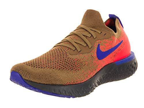 Nike Men's Epic React Flyknit Golden Beige/Racer Blue Running Shoe 10 Men US