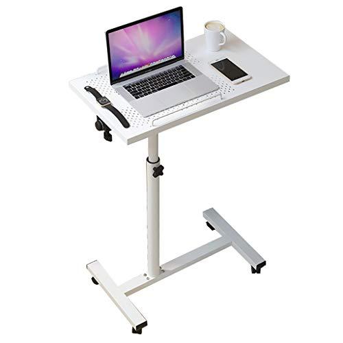Stehen Winkel Höhenverstellbarer Rolltisch Schreibtisch Laptop Notebook Schwenkbarer Tisch Schreibtisch Sofa/Bett Beistelltisch Tischständer Abschließbare Casters (Color : White)