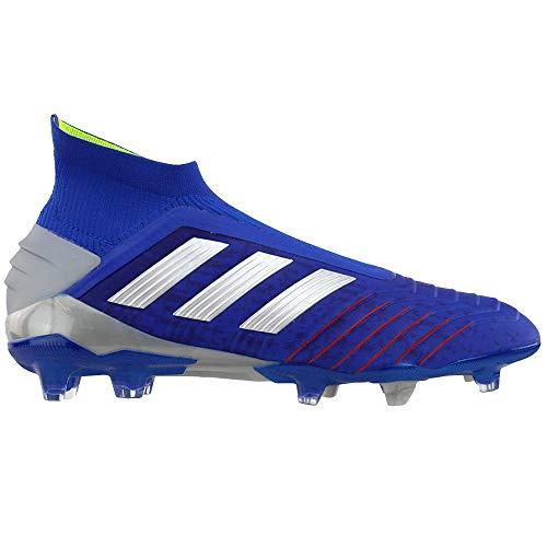 adidas Predator 19+ FG Cleat - Men's Soccer Bold Blue/Silver Metallic/Active Red