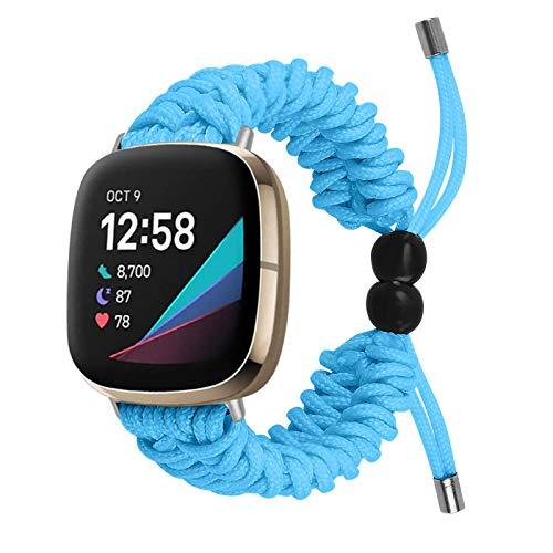 BFISOD Band Kompatibel für Versa 3, Handmade Nylon-Armband Verstellbare Armbänder Wrsits Strap Zubehörbänder für Fitbit Versa 3 / Fitbit Sense (A03)