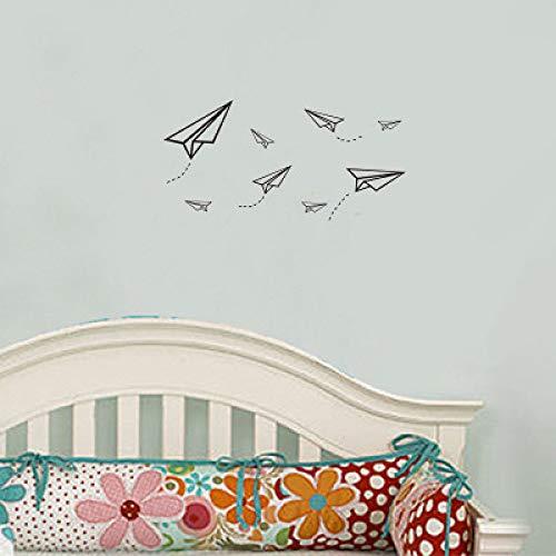 JXLLCD eenvoudige persoonlijkheid creatieve cartoon papier vliegtuig muursticker kinderkamer woonkamer decoratie sticker 42 * 26cm