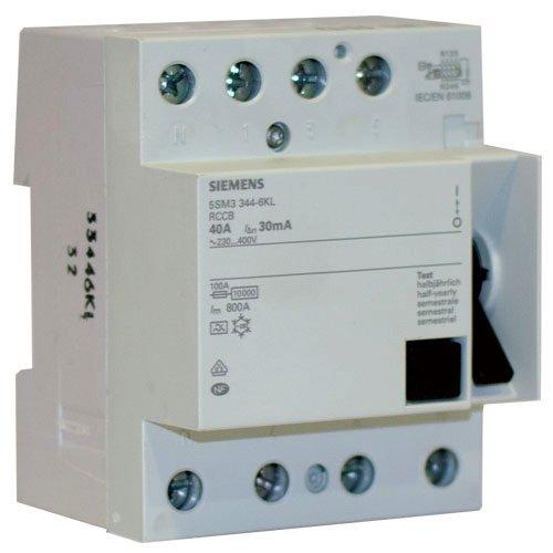 Preisvergleich Produktbild Siemens Indus.Sector FI-Schutzschalter 40A 4p IFN 30mA 400V 5SM3344-6KL