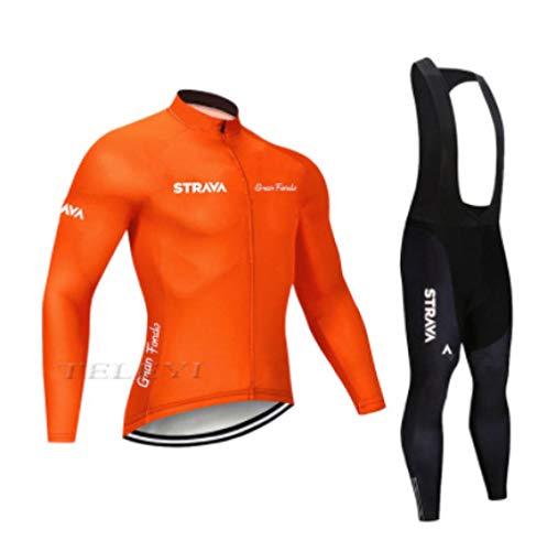 CptBtptPyy Ciclismo Maillot y Culotte Pantalones Cortos,Jersey de Ciclismo para Hombre, Traje...