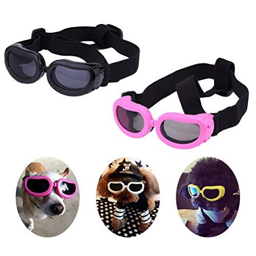 Vaious Hundebrille Puppy Sonnenbrille Windproof Protection Doggles - für kleine Haustiere UV-Schutz Hundesonnenbrille mit verstellbarem Riemen, farblich Sortiert