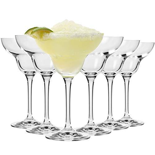 Krosno Copas Margarita Cóctel | Conjunto 6 Piezas | 270 ML | Avant-Garde Collection Uso en Casa, Restaurante y en Fiestas | Apto para Microondas y Lavavajillas