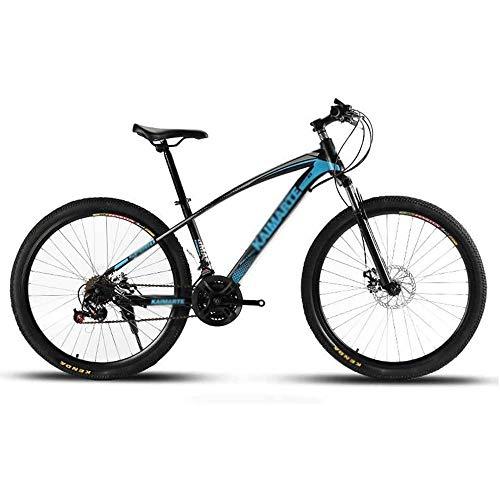 Qinmo Adulto de Bicicletas de montaña, Bicicletas de Doble Disco de Freno, Playa de Motos de Nieve de Bicicletas, Upgrade de Alto Carbono Marco de Acero, Ruedas de 26 Pulgadas, 21/24/27 Velocidad
