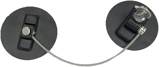 para Seguridad de beb/és y ni/ños Cable Robusto Que se Puede Bloquear con Llave Blanco Zerodis Baby Safety Lock Catch Wire Cables para Cerrar Ventanas y Puertas
