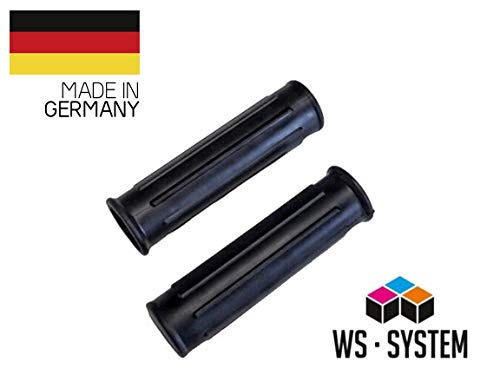 2 x Universal Schubkarrengriff | Griff | Schubkarre | Sackkarre | 24 mm Schwarz | Karrengriff
