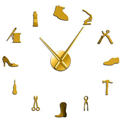 yage Reparación de Zapatos, Arte de Pared, Reloj de Pared Gigante DIY, Zapatero, decoración del hogar, Reloj de Pared Grande sin Marco, zapatería, Zapatero, Zapatero, Regalo