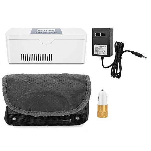 GOTOTOP Nevera portátil de insulina, refrigerador de coche, mini nevera portátil con carga USB para coche, mantiene el termostato de 2 a 8 °C.