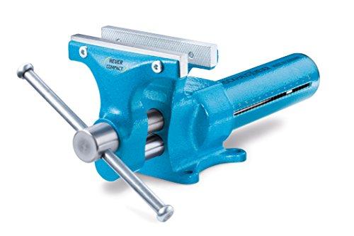 Heuer  Schraubstock Compact 120mm (kompakt; Quicklaunch Schnellverstellung; 2-Seiten Backen glatt / geriffelt; Backenbreite 120 mm, Durchmesser 15 – 50 mm, 4,5 Kg) 118001