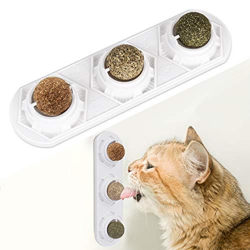 Peteast Katzenminze-Spielzeug, essbare Katzenminze-Bälle, sicher und gesund, Katzenminze, Katzenspielzeug, Zahnreinigung, schützt den Bauch