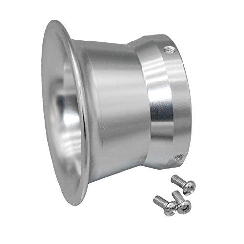 gazechimp Coupe De Corne De Vent De Filtre à Air De Carburateur De 50mm pour OKO KOSO PWK24-30 - Argent