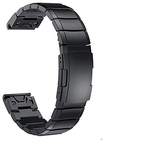 Bracelet de montre, 20mm 22mm 26mm Bracelet en acier inoxydable pour Garmin Fenix 6 6X5 5X 5S Classique Installation rapide Bracelets de montre en métal Bracelet de montre de mode Bracelet (Cou