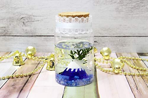 バックフラワー(Back Flower) ハーバリウムプラス ブルー 全長: 8cm 富士山 A
