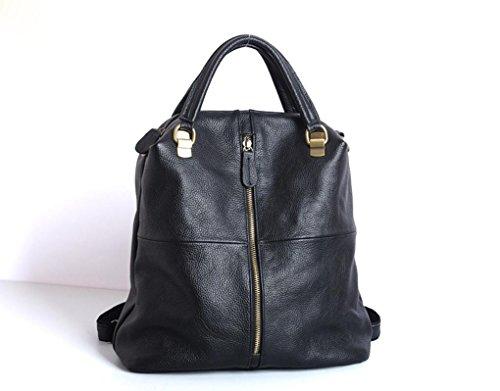 FEN La première couche de sacs à main en cuir en cuir casual sac à bandoulière noir