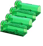 Authenzo Humane Mouse Trap Smart No Kill Mouse Trap Catch and Release, Safe for People and Pet - 4 Pack
