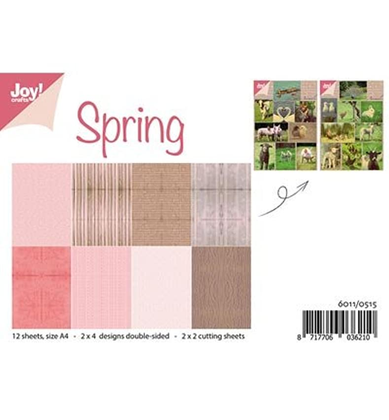 Joy! Crafts Cardstock Double Sided A4 - Spring - 12 Sheets, Earth Tones