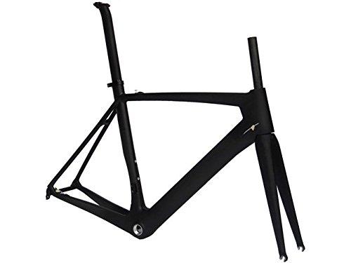Flyxii Full Carbon UD Matt Road Bike 700C Frameset: telaio della bicicletta 52 cm forcella reggisella morsetto (per BB30)