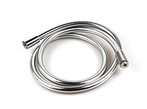 20CM / 40CM / 100CM / 150CM / 200CM Tubo flessibile per doccia in PVC cromato, tubo idraulico liscio per bagno, anti-perdite, anti-avvolgimento, usato per doccetta da bagno.-20CM