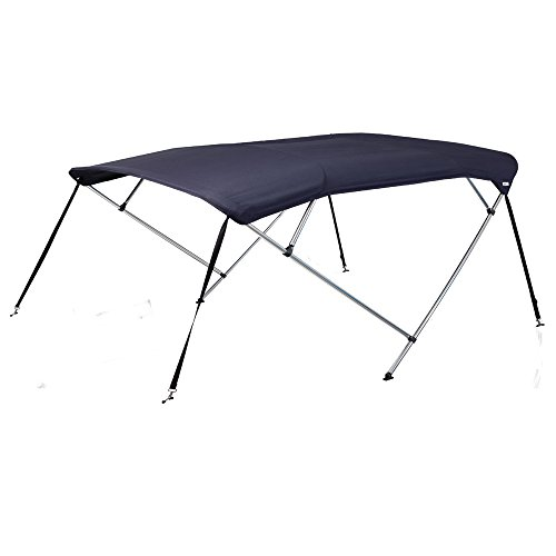 Oceansouth 4 Bow Bimini Top with Integrated Storage Boot (Blau, Breite1.5m - 1.7m)