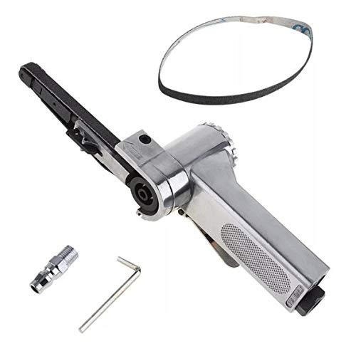 ACEHE Pneumatische Bandmaschine in Industriequalität 10 mm pneumatische Schleifmaschine Bandmaschine Poliermaschine