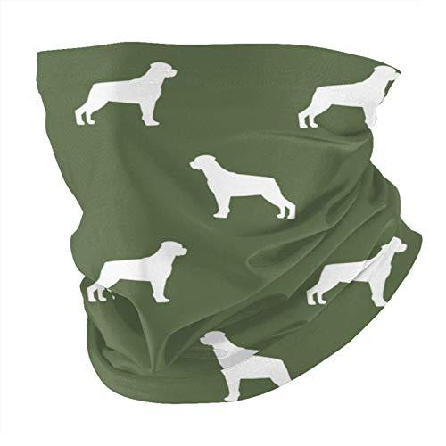 Rottweiler Silhouette Dog - Pañuelo cuadrado para la cabeza, diadema, multifuncional, diseño de perro